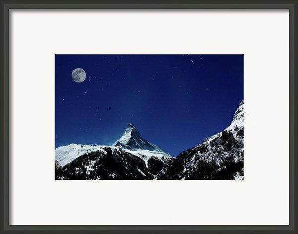 Matterhorn Switzerland Blue Hour Framed Print By Maria Swärd