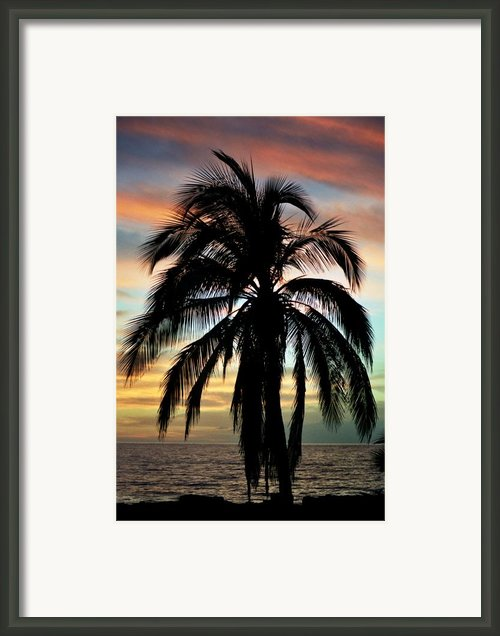 Maui Hawaii Sunset Palm Framed Print By Pierre Leclerc