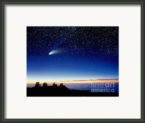 Mauna Kea Telescopes Framed Print By D Nunuk And Photo Researchers