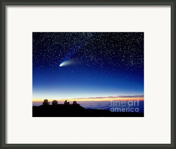 Mauna Kea Telescopes Framed Print By D Nunuk And Photo Researchers
