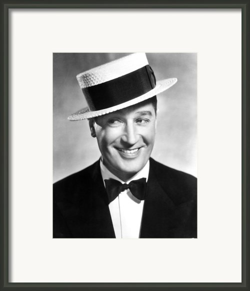 Maurice Chevalier, 1930s Framed Print By Everett