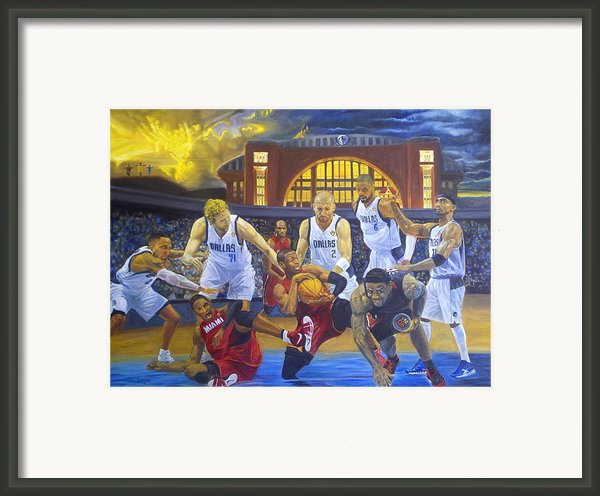 Mavericks Defeat The King And His Court Framed Print By Luis Antonio Vargas