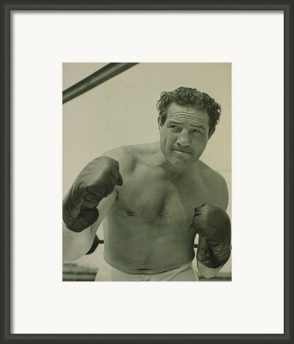 Max Baer 1909-1959, One-time Framed Print By Everett