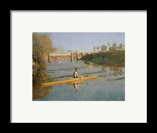 Max Schmitt In A Single Scull Framed Print By Thomas Cowperthwait Eakins