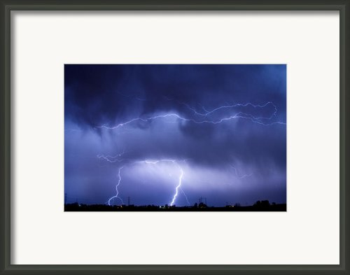 May Showers - Lightning Thunderstorm 5-10-2011 Framed Print By James Bo Insogna