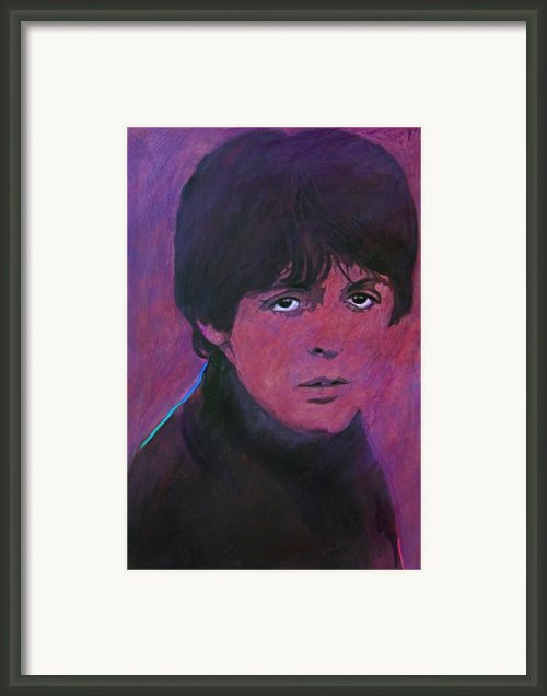 Mccartney Framed Print By David Lloyd Glover