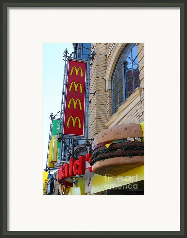 Mcdonalds Hamburger Restaurant . Fishermans Wharf . San Francisco California . 7d14249 Framed Print By Wingsdomain Art And Photography