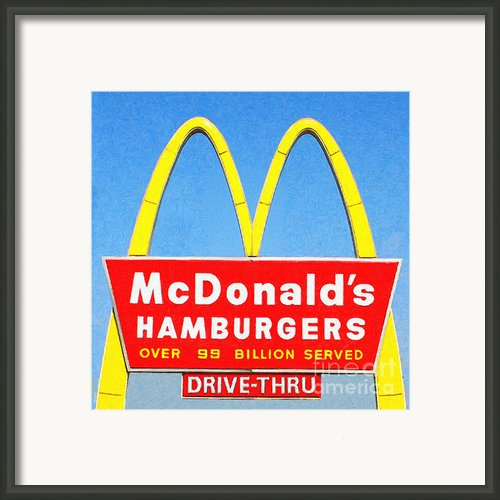Mcdonalds Hamburgers . Over 99 Billion Served Framed Print By Wingsdomain Art And Photography