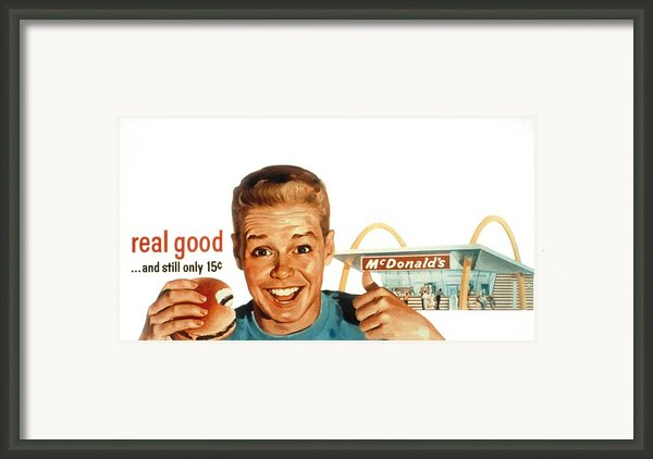Mcdonalds Restaurant Advertisement Framed Print By Everett