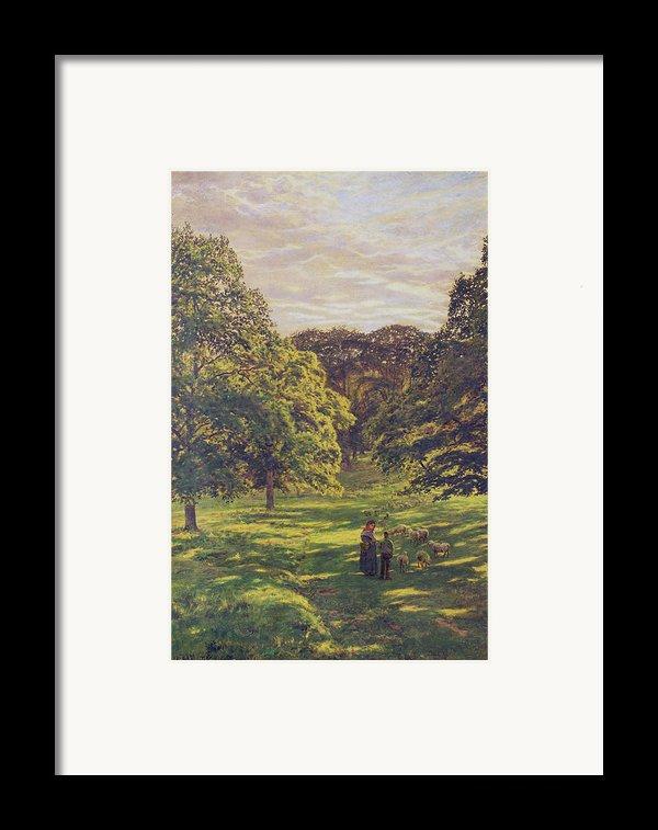Meadow Scene  Framed Print By John William Buxton Knight