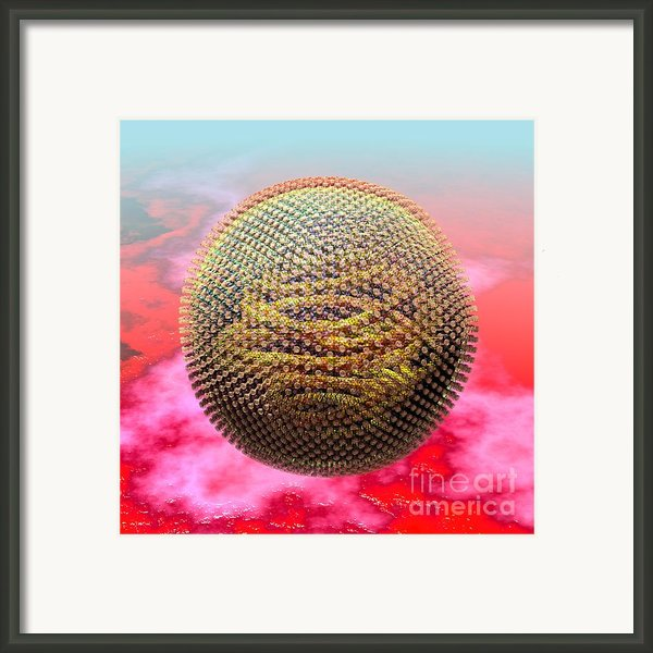 Measles Virus Framed Print By Russell Kightley