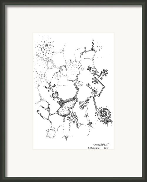 Mechanica Aceo Framed Print By Regina Valluzzi