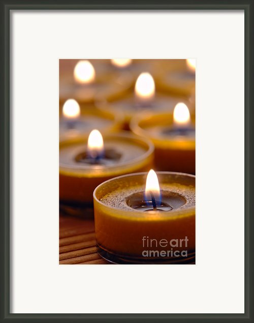 Meditation Candles Path Framed Print By Olivier Le Queinec