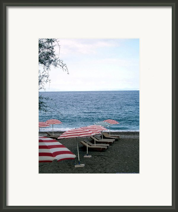 Mediterranean Beach Time  Framed Print By Anthony Novembre