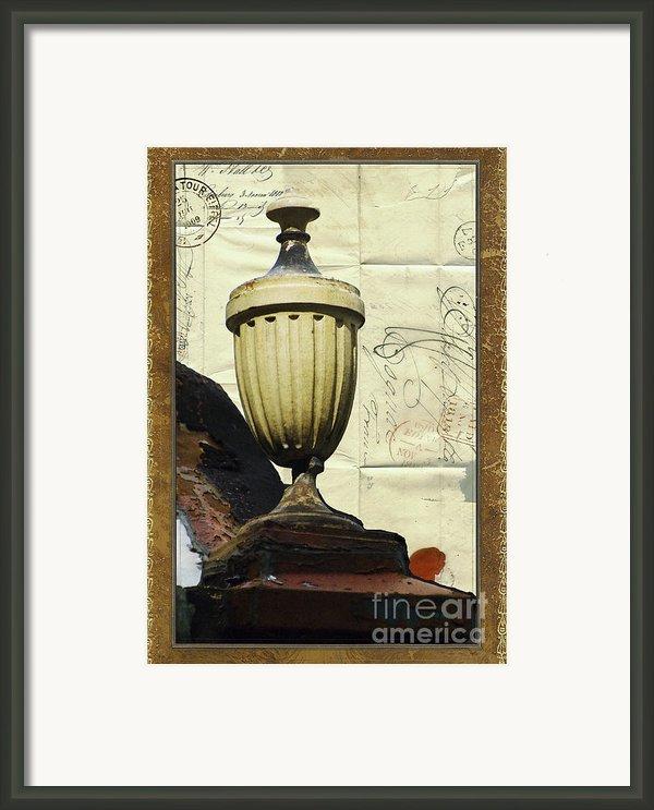 Mediterranean Urn Framed Print By Adspice Studios