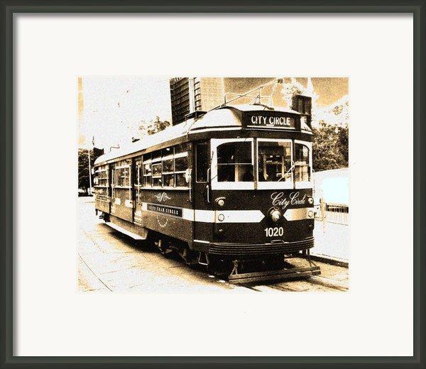 Melbourne Tram Framed Print By Darren Stein