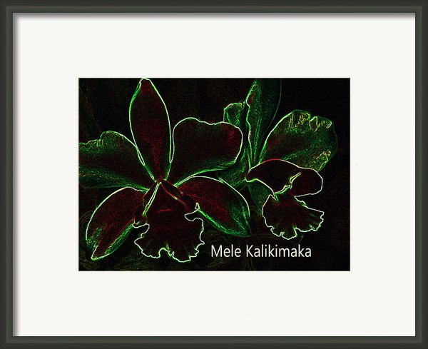 Mele Kalikimaka - Merry Christmas From Hawaii Framed Print By Kerri Ligatich