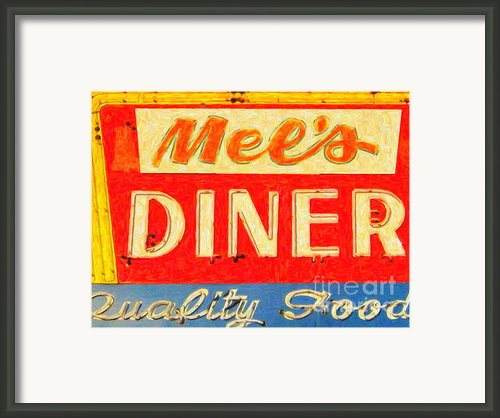 Mels Diner Framed Print By Wingsdomain Art And Photography