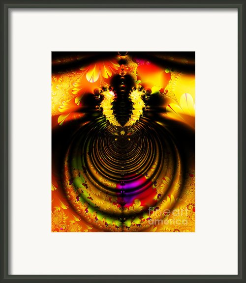 Melting Pot . Gold . S8a.s11 Framed Print By Wingsdomain Art And Photography
