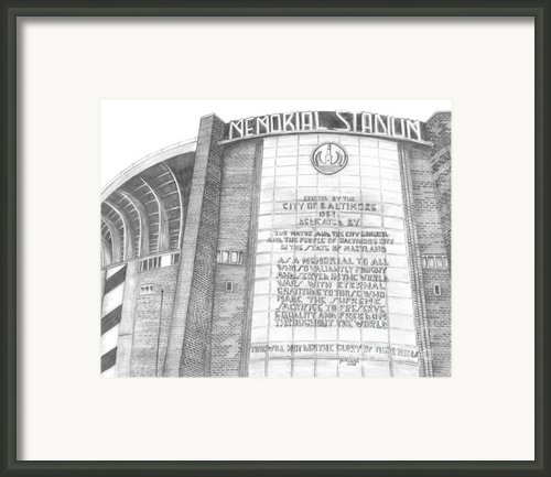 Memorial Stadium Framed Print By Juliana Dube
