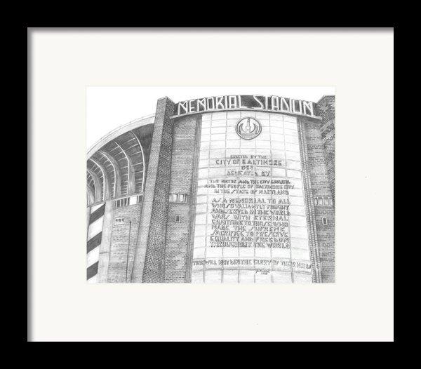 Memorial Stadium Framed Print By Juliana Dube