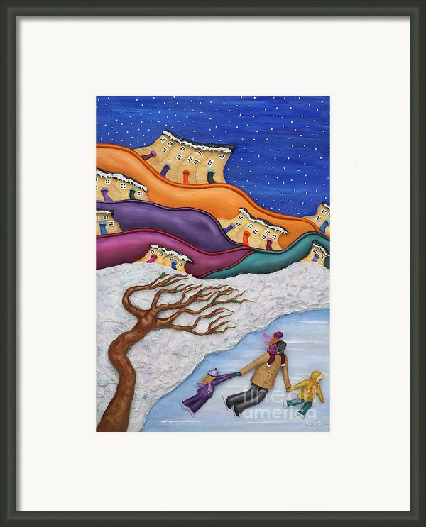 Memories On Ice Framed Print By Anne Klar