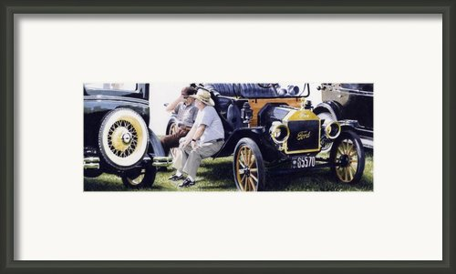 Men And Their Toys Framed Print By Denny Bond