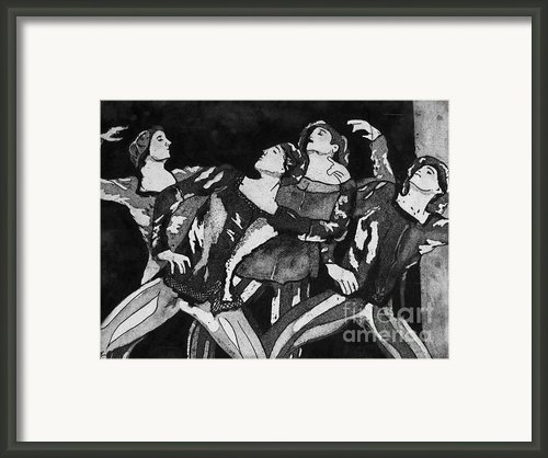 Men In Tights Framed Print By Colleen Kammerer
