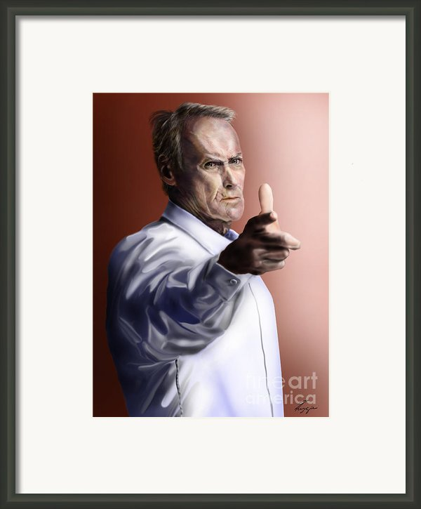 Men Must Know Their Limitations-clint Eastwood Framed Print By Reggie Duffie