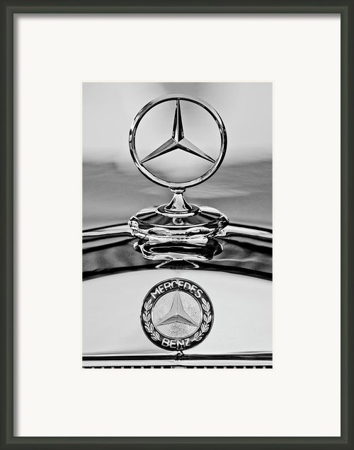 Mercedes Benz Hood Ornament 2 Framed Print By Jill Reger
