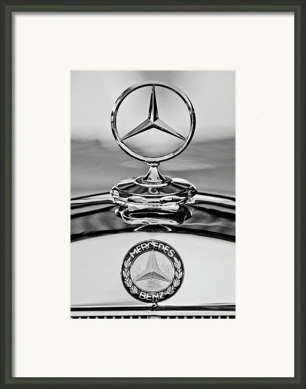Mercedes Benz Hood Ornament 2 Framed Print By Jill Reger