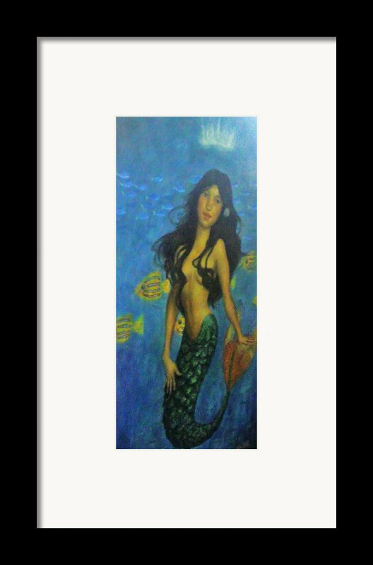 Mermaid Framed Print By Alexandro Rios