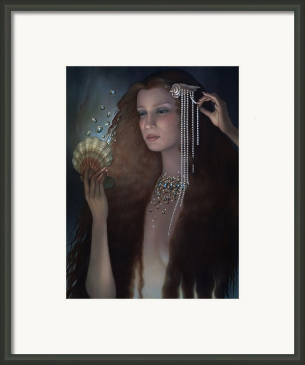 Mermaid Framed Print By Jane Whiting Chrzanoska