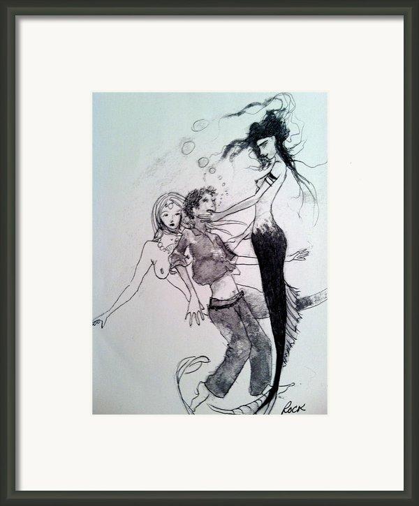 Mermaids Framed Print By Jackie Rock
