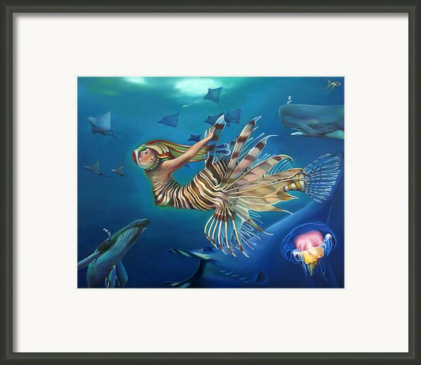 Mermalien Odyssey Framed Print By Patrick Anthony Pierson