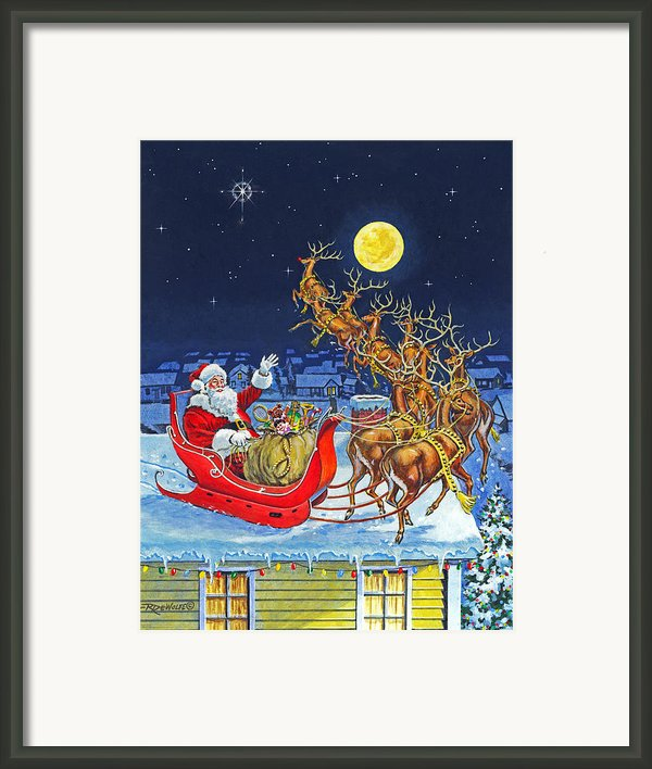 Merry Christmas To All Framed Print By Richard De Wolfe