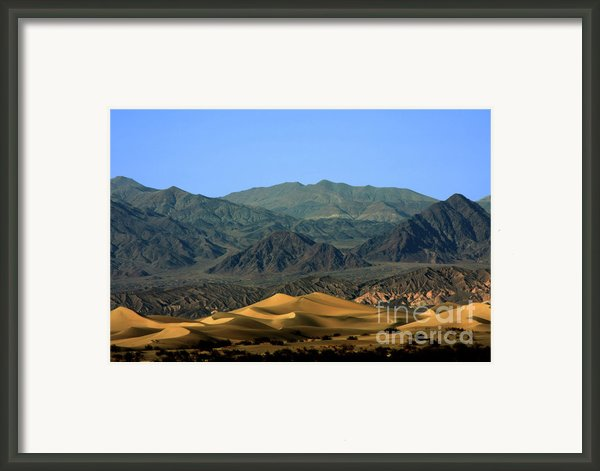 Mesquite Flat Sand Dunes - Death Valley National Park Ca Usa Framed Print By Christine Till