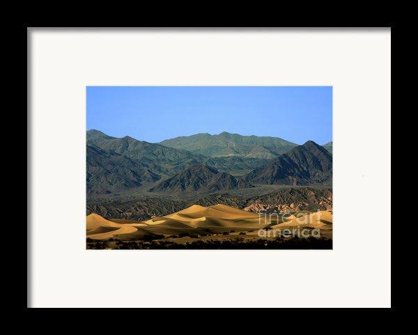 Mesquite Flat Sand Dunes - Death Valley National Park Ca Usa Framed Print By Christine Till