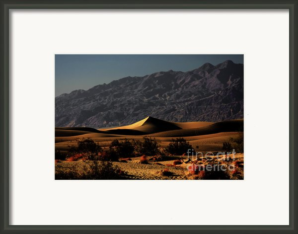 Mesquite Flat Sand Dunes Death Valley - Spectacularly Abstract Framed Print By Christine Till