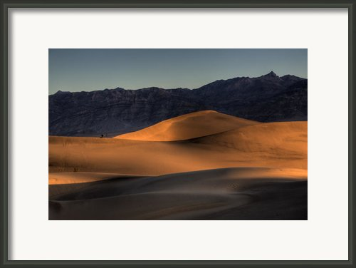 Mesquite Flats Sunsrise Framed Print By Peter Tellone