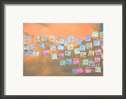 Messages In The Cloud . Rip Mr Steve Jobs . October 5 2011 . You Will Surely Be Missed Framed Print By Wingsdomain Art And Photography
