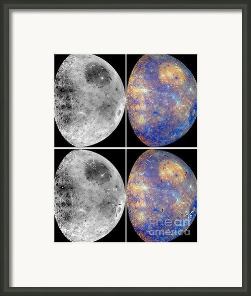 Messenger Image Of Mercury Framed Print By Nasa