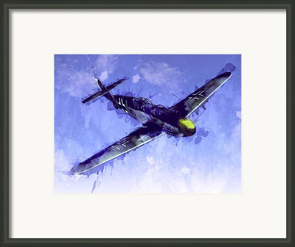 Messerschmitt Bf 109 Framed Print By Michael Tompsett
