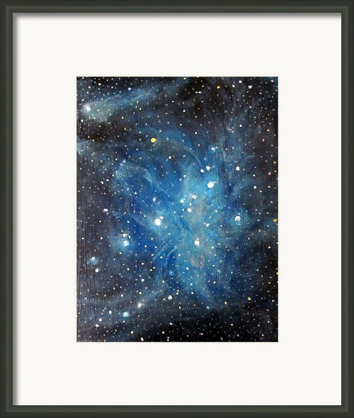 Messier 45 Pleiades Constellation Framed Print By Alizey Khan