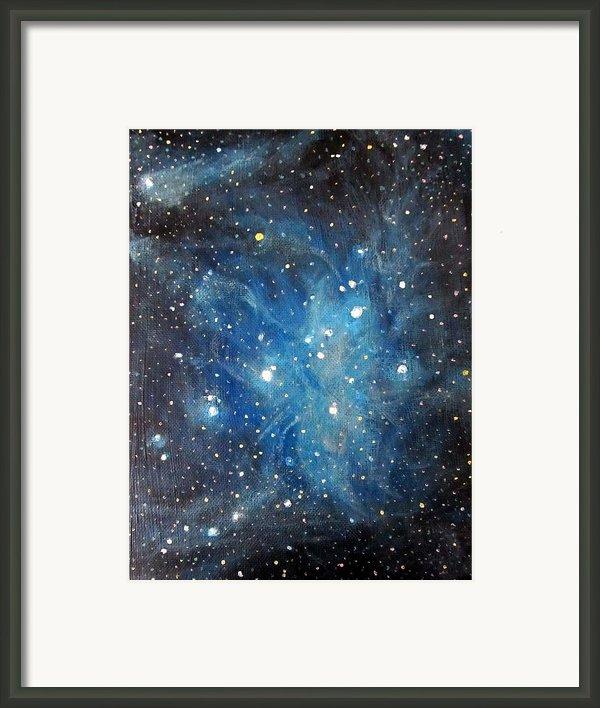 Messier 45 Pleiades Constellation Framed Print By Alizey Khan