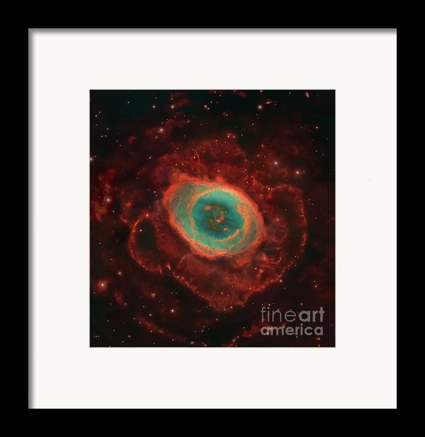 Messier 57, The Ring Nebula Framed Print By Robert Gendler