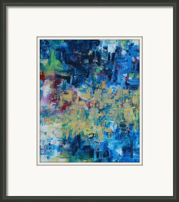 Messy Ocean Framed Print By Joanna Georghadjis