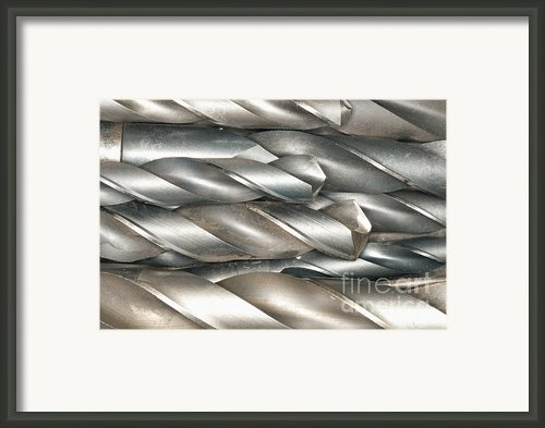 Metal Drill Bits Framed Print By Shannon Fagan