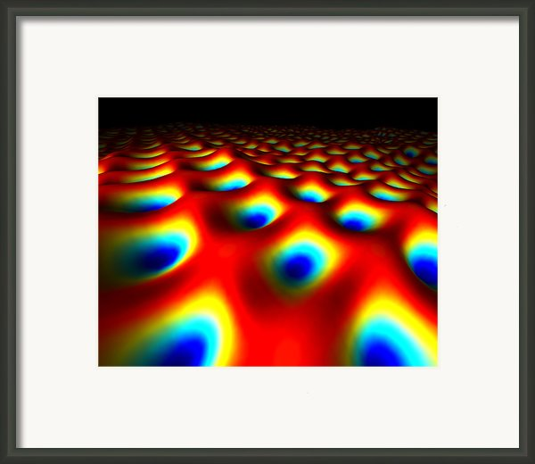 Metal Surface At The Quantum Level Framed Print By Equinox Graphics