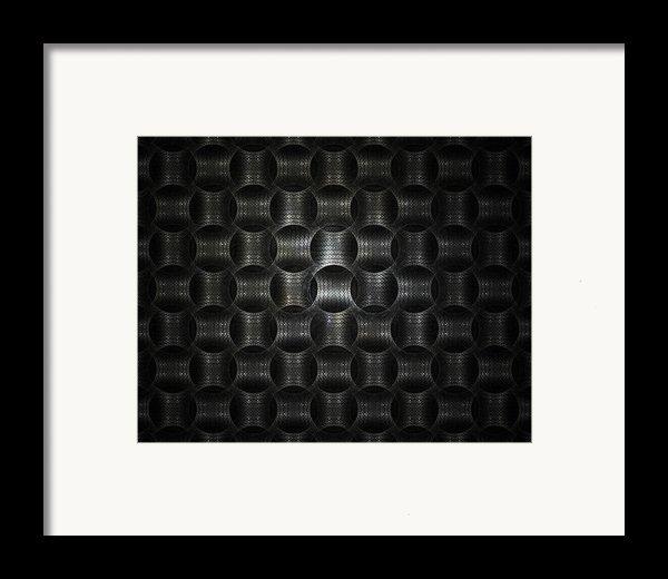 Metallic Weave Framed Print By David April